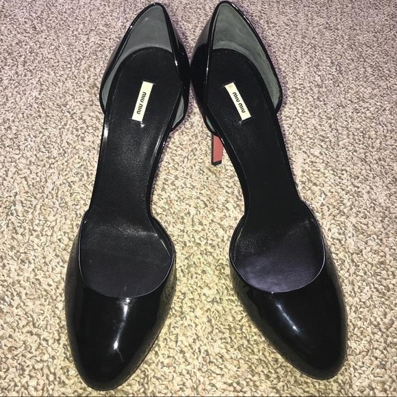Patent Black ShoesVernice Nero Pumps Miu Poshmark 5AjL34Rq